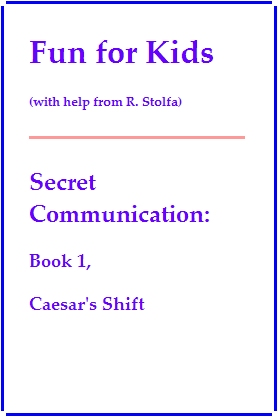 Ceasar's Shift - book cover