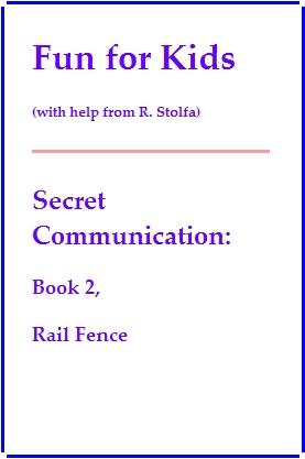 A sample 'Rail Fence' book.
